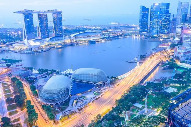 Ville d'horizon de singapour Photo gratuit