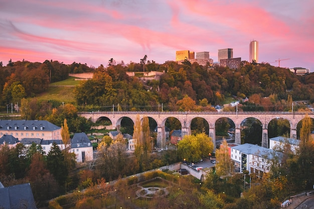 La Ville De Luxembourg Photo Premium