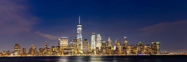 Ville de new york, lower manhattan Photo Premium