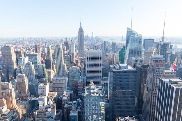 La Ville De New York. Manhattan, Empire State Building Photo Premium