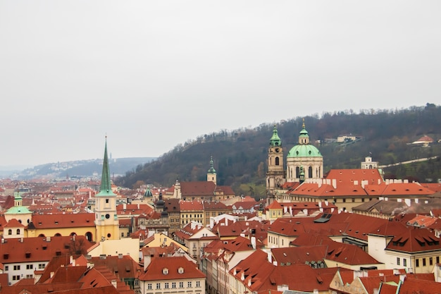 Ville De Prague, République Tchèque Sous Un Ciel Assombri Photo gratuit