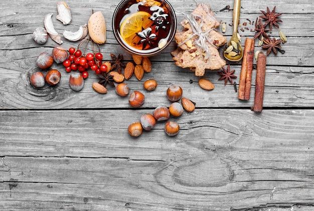 Vin chaud aux épices Photo Premium