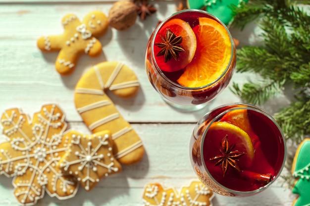 Vin Chaud De Noël Photo Premium