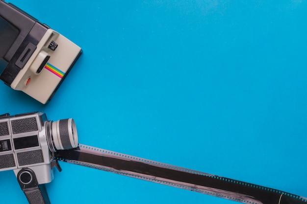 Vintage caméras avec celluloïd Photo gratuit