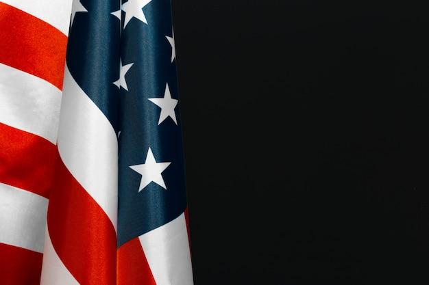 Vintage drapeau américain sur un tableau Photo Premium