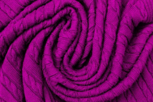 Violet Doux Plis De Laine Plaid Photo Premium
