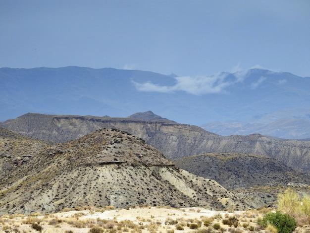 Vista sobre el desierto de tabernas Photo Premium