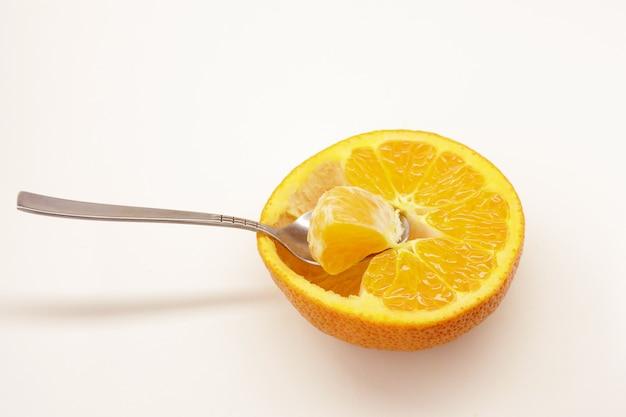 Vitamine Sur Une Cuillère Photo Premium
