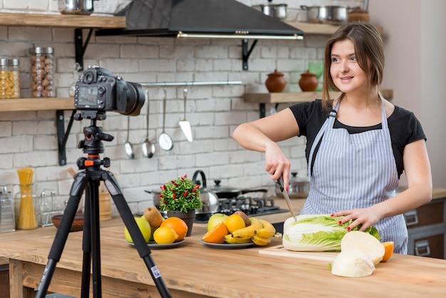 Vlogger De Cuisine Photo gratuit