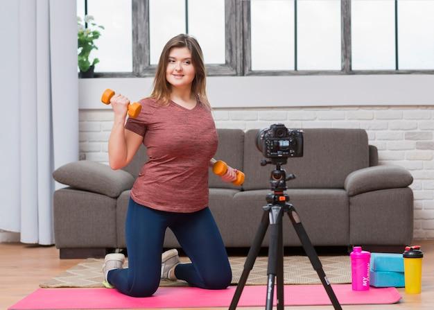 Vlogger de sport Photo gratuit