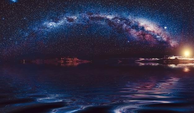 Voie lactée dans le ciel nocturne Photo Premium