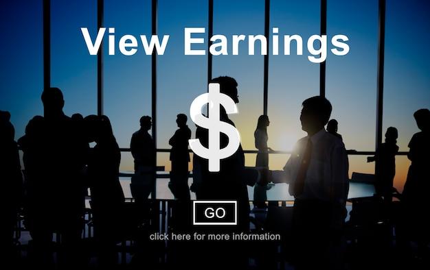 Voir la comptabilité financière concept de monnaie financière Photo gratuit