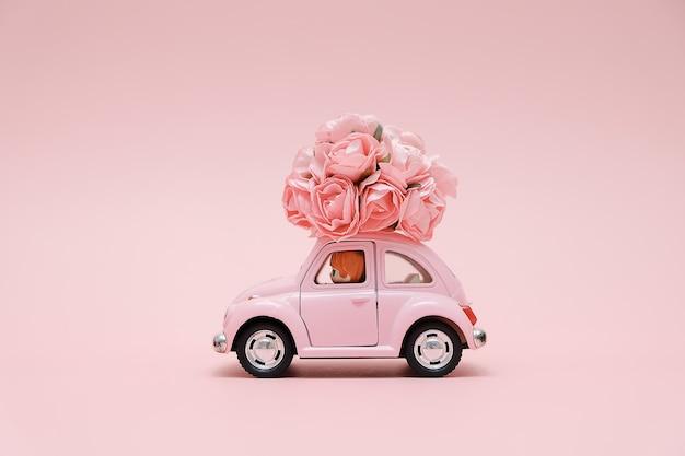 Rose Un Rétro Bouquet FleursTélécharger De Voiture Offrant Jouet ZXPuki
