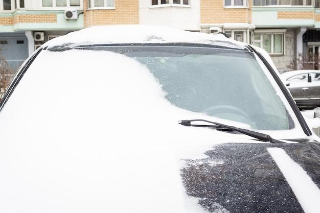 Voiture neige hiver Photo Premium