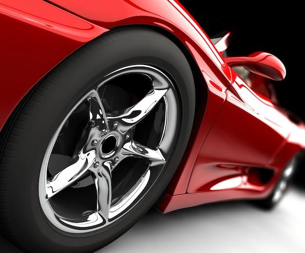 Voiture rouge Photo Premium