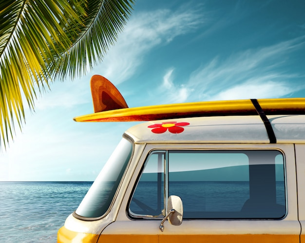 Voiture voyage et tourisme Photo Premium