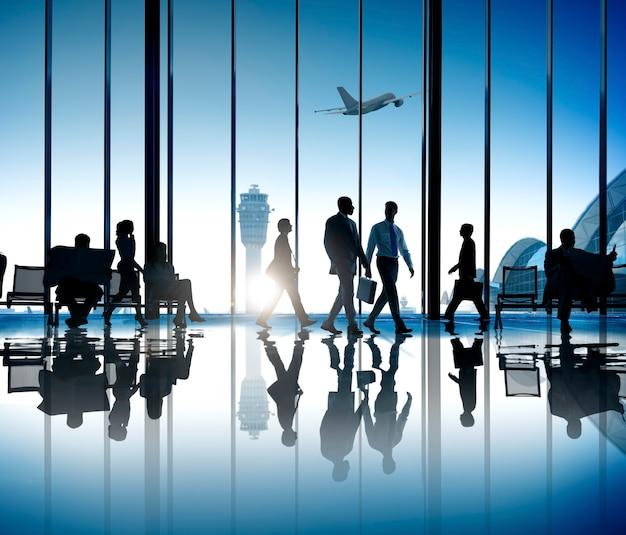Voyage d'affaires corporatif Photo Premium