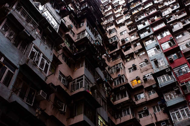 Voyage à hong kong. magnifique bâtiment Photo Premium