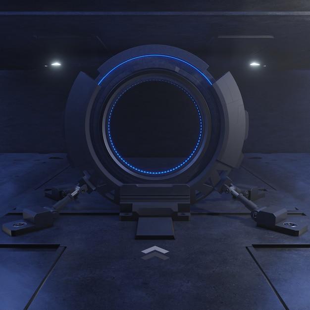 Voyager à travers la porte du futur avec la rapidité Photo Premium