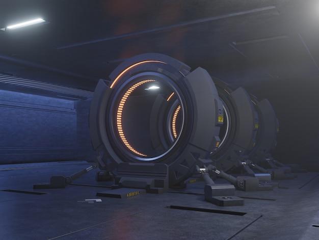 Voyager à travers la porte du futur à la vitesse de la lumière. Photo Premium