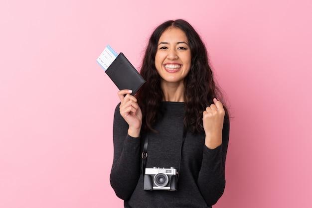 Voyageur Femme Photo Premium