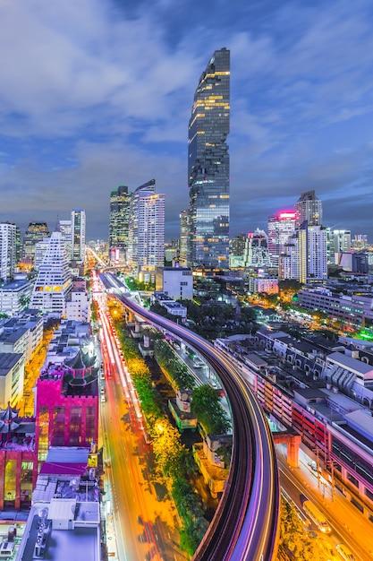 Vue aérienne, de, bangkok, ville, moderne, bureaux, condominium, hôtel, bangkok Photo Premium