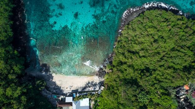 Vue Aérienne De La Mer Fond De Nature Incroyable Photo Premium