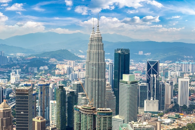 Vue Aérienne Panoramique De Kuala Lumpur, Malaisie Photo Premium
