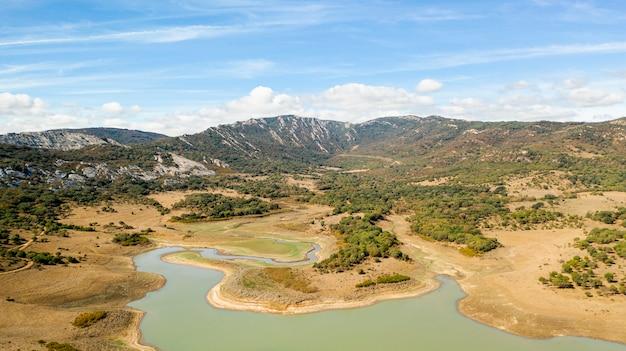 Vue aérienne d'un paysage à couper le souffle Photo gratuit