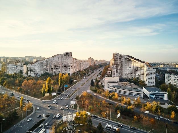 Vue aérienne des portes de chisinau Photo Premium