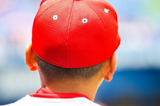 Vue Arrière D'un Joueur De Baseball Photo Premium