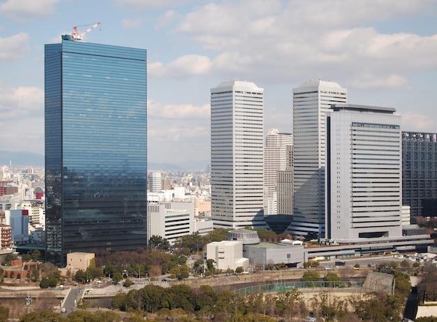 Vue, de, bâtiments, et, ville, paysage, japon Photo Premium