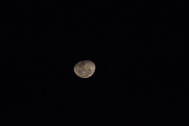 Vue D'un Beau Cliché De La Lune. Photo Premium