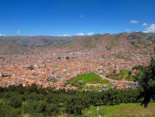 La Vue Sur Le Centre De Cusco, Pérou Photo Premium