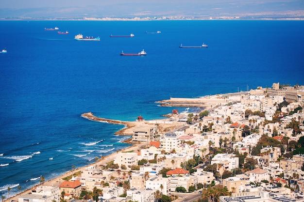 Vue Sur La Côte De Haïfa, Israël Photo Premium