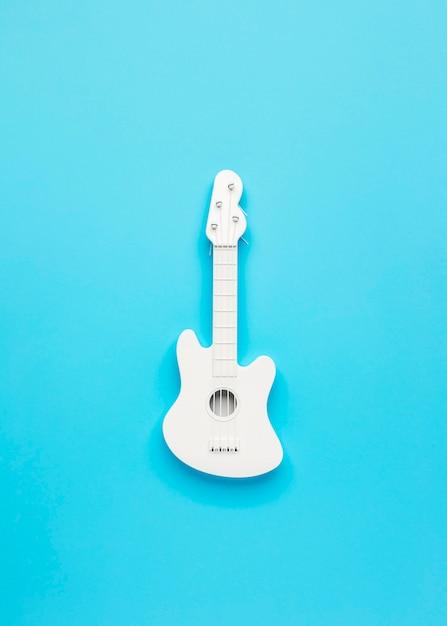 Vue De Dessus Arrangement De Guitare Blanche Photo gratuit