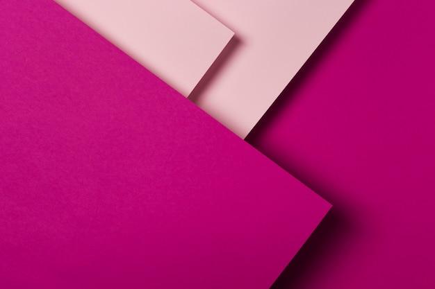 Vue De Dessus Assortiment De Feuilles De Papier Colorées Photo Premium