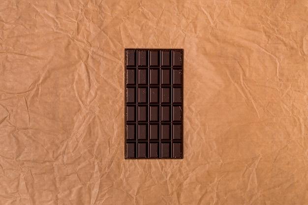 Vue de dessus de la barre de chocolat Photo gratuit