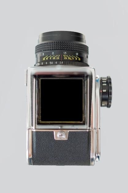 Vue de dessus de la caméra rétro Photo gratuit
