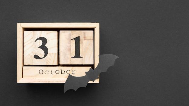 Vue De Dessus Concept Halloween Effrayant Avec Espace Copie Photo gratuit