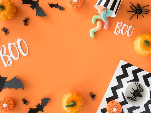 Vue De Dessus Concept Halloween Avec Espace Copie Photo gratuit