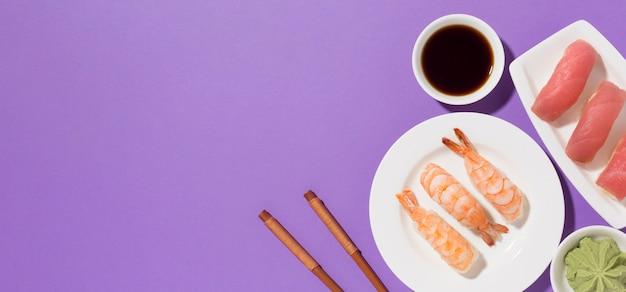 Vue De Dessus Concept De Jour De Sushi Avec Espace Copie Photo gratuit