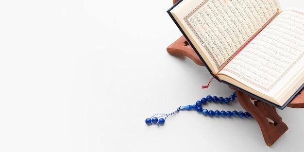 Vue De Dessus Concept De Nouvel An Islamique Avec Espace Copie Photo Premium