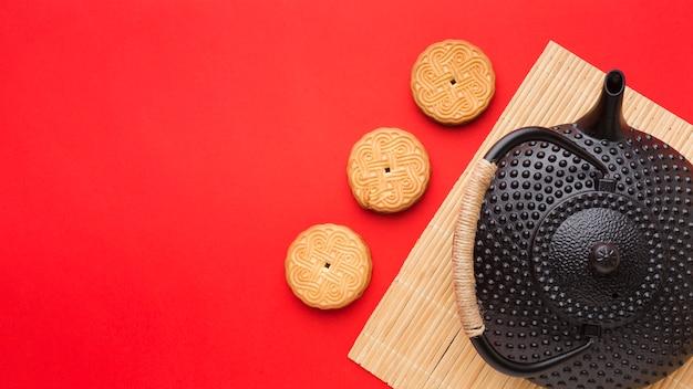 Vue De Dessus Des Cookies Maison Avec Espace Copie Photo gratuit