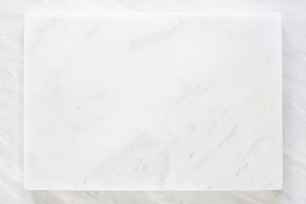 Vue de dessus de la couche de marbre blanc avec texture en marbre gris Photo Premium