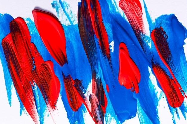 Vue De Dessus Des Coups De Pinceau Multicolores Sur La Surface Photo gratuit