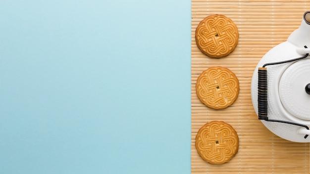 Vue De Dessus De Délicieux Biscuits Maison Avec Espace Copie Photo gratuit