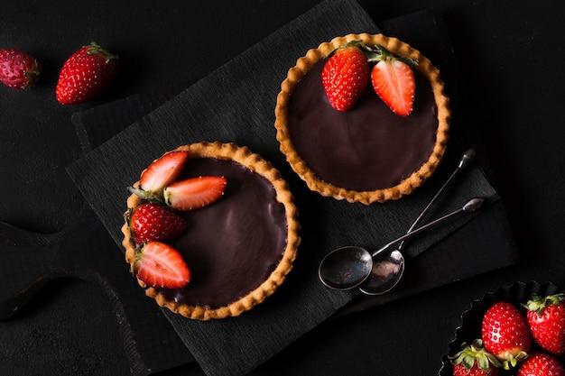 Vue De Dessus Délicieux Dessert Prêt à être Servi Photo gratuit