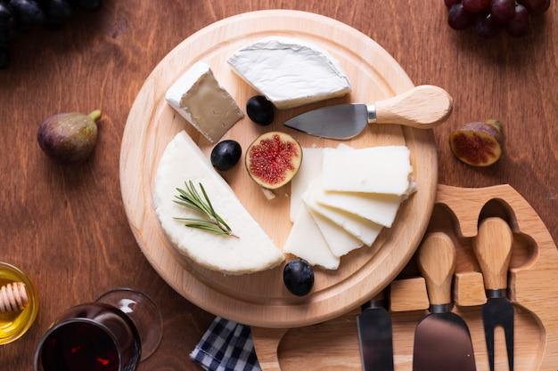 Vue De Dessus De Délicieux Snacks Sur Une Table Photo gratuit