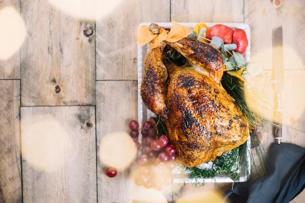 Vue De Dessus De La Dinde De Thanksgiving Photo gratuit